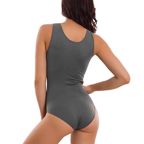 Toocool - Body donna intimo microfibra elasticizzato spalla larga slim nuovo RT9093 Grigio