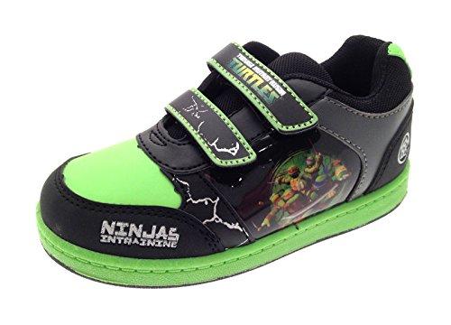 Kinder/Jungen Turnschuhe - Mutant Ninja Turtles - Klettverschluss Teenage Mutant Ninja Turtles - Schwarz/Grün