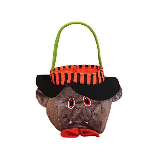 Party Katze Kinder City Kostüm - Syliababy Halloween Kinder Puppe Candy Sweet Jar Box Kinder Vorratsdosen Party House Decor Sackleinen Geschenk Tasche Wiederverwendbare Lagerung Eimer Festival Tote Bag (A)