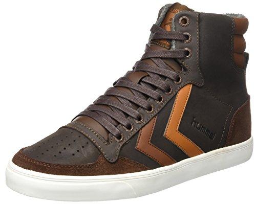 Hummel Unisex-Erwachsene Slimmer Stadil Duo Oiled High Hohe Sneaker, Braun (Chestnut), 42 EU (High-top Retro)