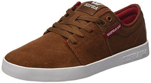 Supra Stacks II, Sneakers Basses Homme Marron (Brown/Red Wht)