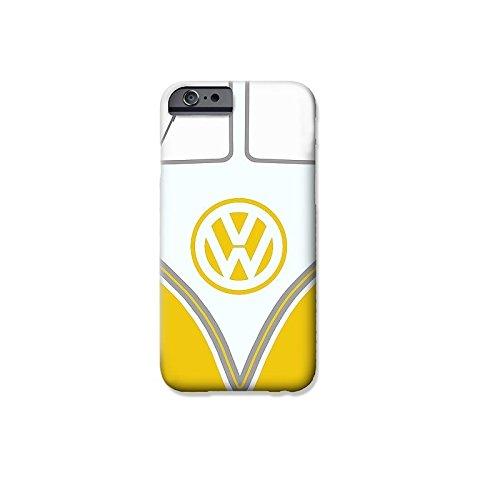 """VW Camper Telefon Hülle/Case Gel TPU Abdeckung für iPhone 6 / 6s (4.7"""") mit Display Schutz / EJC Avenue / Blau Gelb"""