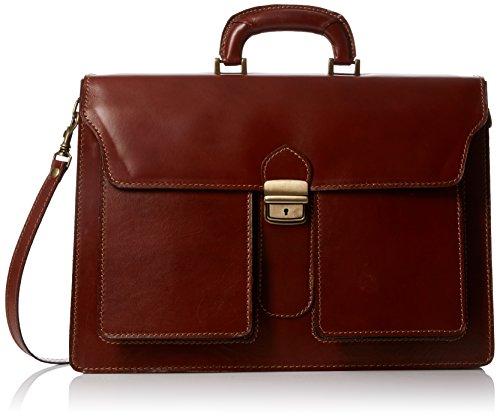 Bags4Less Unisex-Erwachsene Pisa Aktentasche Laptop Tasche, Mahagoni-Braun, 14x30x40 cm -
