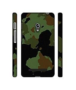 Casotec Military Textur Design 3D Printed Hard Back Case Cover for Asus Zenfone 5 A500CG