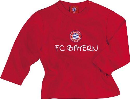 FC Bayern Langarmshirt mit Druckmotiv FC Bayern rot Größe 104 (Kleinkind T-shirt Fan)