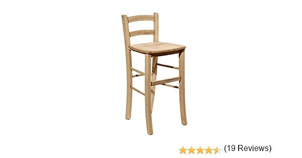 Okaffarefatto maddaloni sedia sgabello in legno massello h 67 cm da