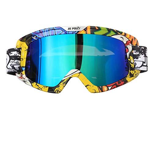 Bishilin Motorradbrille Entspiegelt Unisex Skibrille Arbeitsbrille Schutzbrille Multicolor A01 Schutzbrille