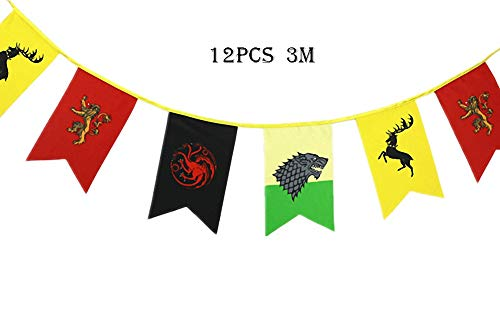 TianLinToy Game of Thrones Style Banner House Sigil Wall Flags  3m   Hanging flags for Bar club living room Decoration