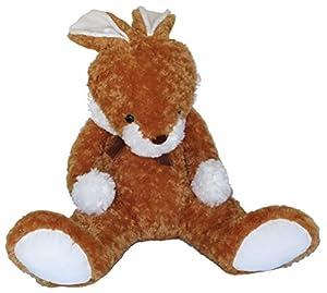 Heunec 839977-Conejo Sentado, XXL, Color marrón Claro con Color Blanco