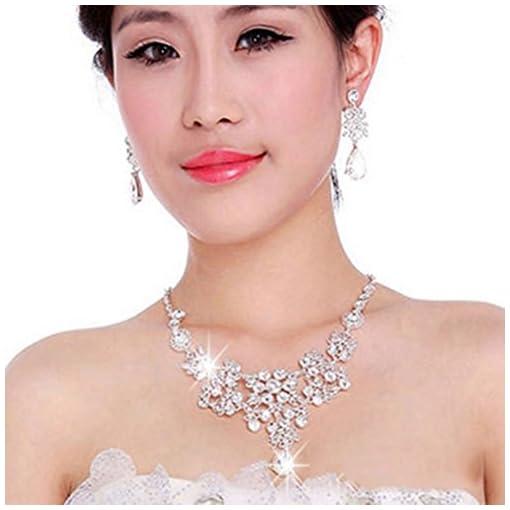 Women's Wedding Jewellery Sets Fashion Bride Earrings & Pendant Necklace