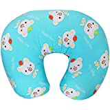 Baby Grow Nursing Pillow With Slipcover Cotton Feeding Pillow And Positioner With Baby Printed Slipcover Baby Feeding Pillow For Mother (Sky Blue)