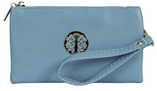 Big Handbag Shop, Borsetta da polso donna Sky Blue