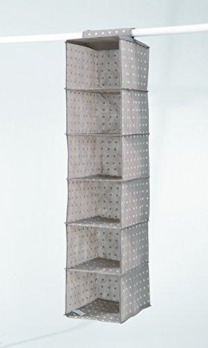 comprare on line Compactor Rivoli Portatutto 6 Livelli, Tessuto, Marrone/Bianco, 30x30x128 cm prezzo