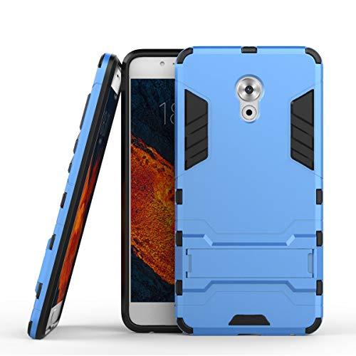 tinyue® Handyhülle für Meizu Pro 6 Plus, Hülle 2 in 1 Material Harte Schwer doppelte kratzfester Handyfall im Freienhandyfall Iron Man Rüstung mit Kickstand Case, Blau