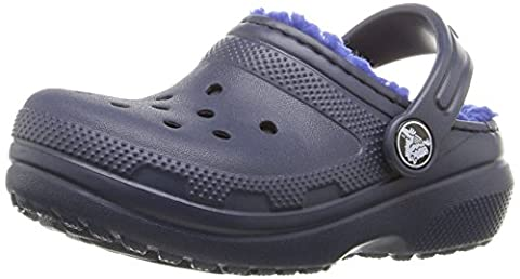 Crocs Unisex Kids' Clsclinedclogk Clogs, Blue (Navy/Cerulean Blue), 13 UK Child 30/31 EU