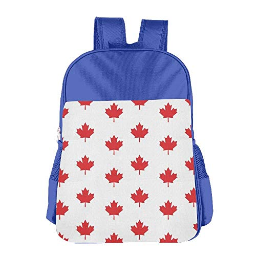 Canada Red Maple Leaf Children School Backpack Carry Bag for Youth Boys Girl -