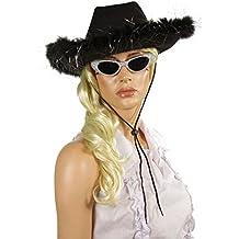 5386734647035 P  tit payaso sombrero fieltro Cow Girl con plumas adulto