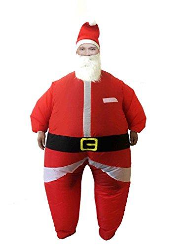 Shsyue®Aufblasbare Kostüm Klassische Weihnachtsmann Fett Anzug für Fest Halloween Weihnachten (Kostüm Fett Passt)