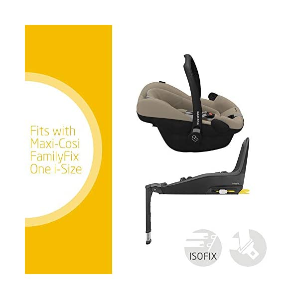 Maxi-Cosi Pebble Plus Baby Car Seat Group 0+, ISOFIX Car Seat, i-Size, 0-12 m, 0-13 kg, 45-75 cm, Sand Maxi-Cosi Baby car seat, suitable from birth to approximate 1 year (0-13 kg, 45-75 cm) Fits with compatible Maxi-Cosi base unit for ISOFIX installation i-Size for enhanced safety and optimal protection against side impacts 2