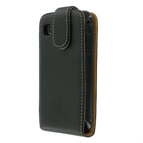 Samsung EF-GALL Handy Ledertasche für Samsung Galaxy S schwarz