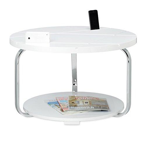 42 X 70 Cm Grosser Runder Holztisch Mit Rollen Als Halter Fr Smartphones Und Tablets Moderner Tisch Wohnzimmertisch Tabletstnder Weiss
