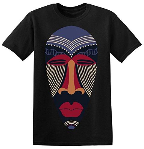 African Patterned Tribal Mask Men's T-shirt