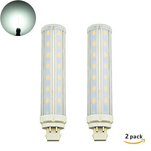 Plug-in Pendelleuchte-lampen (LuxVista 12W GX24Q LED Maislampe 4-Pin Kühlweiß 6000K 360 Grad Plug-In Lampe Ersatz für Leuchtstofflampen PL Horizontale Einbauleuchte Glühbirne 2-Stück (Entfernen / umgehen Sie den Ballast))