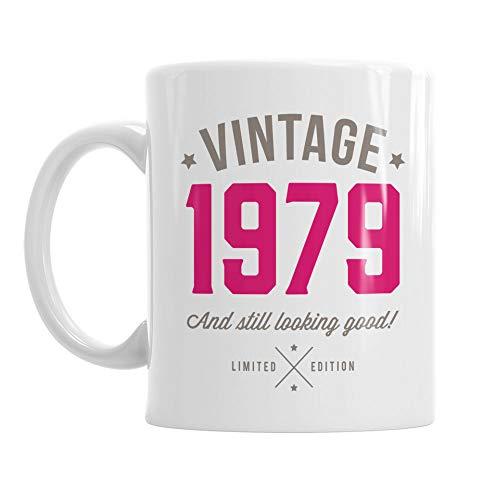Geschenk zum 40. Geburtstag, 40. Geburtstag, 40. Geburtstag Geschenke, für Herren, zum 40. Geburtstag Geschenke für Frauen, 1976Geburtstag, Vintage 1976, Kaffee Tasse, keramik, rose (Spaß-tassen Für Frauen)