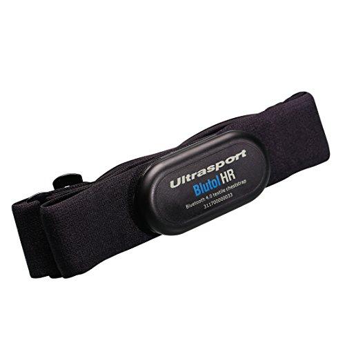 Ultrasport textiler Brustgurt Bluetooth 4.0, waschbar / Brustgurt mit Bluetooth für iPhone ab 4s und Android-Smartphones ab 4.3, Bluetooth-Herzfrequenzsensor, mit abnehmbarer Sendeeinheit