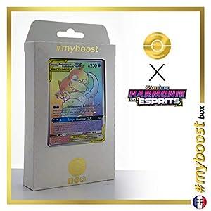 Ramoloss et Psykokwak-GX  (Slowpoke y Psyduck-GX ) 239/236 Arcoíris Secreta - #myboost X Soleil & Lune 11 Harmonie des Esprits - Box de 10 cartas Pokémon Francés