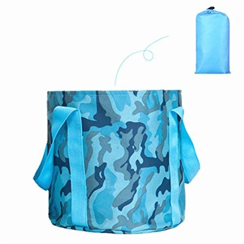 Lavabos de Salle de Bain Pliable lavabo Portable Pliable lavabo Voyage lavabo extérieur Bain de Pieds Seau évier (Color : Blue 1, Size : 31 * 31 cm)