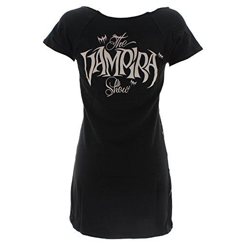 Kreepsville 666 Kleid VAMPIRA SHADOW FACE TUNIC DRESS Black