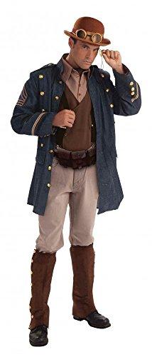 General Kostüm Steampunk - Steampunk Generalsjacke Hemd mit Weste und Ascotkrawatte Gr. L Kostüm General