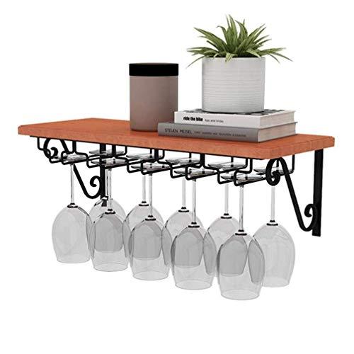 Winerack Weinglashalter/Haushalt Wandbehang Massivholz Weinregal Küche Lagerung Display Stand (Log Farbe 40/60/80/100/120 cm * 25 cm) (Größe: 100 * 25 cm) -