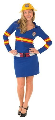 Kostüm Firegirl - Rubie's Firegirl Fancy Dress (Large)