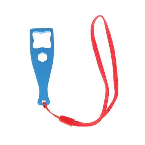 MagiDeal Tighten Loosen Key Spanner Button Tool for GoPro with lanyard Aluminum Blue