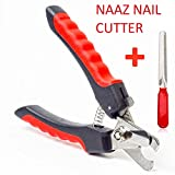 Naaz Professional Dog Nail Cutter |Best for : Small, Medium, Large Dogs & Cats Claw & Nails Clippers Grinder Trimmer Heavy Durability (Red - Black)