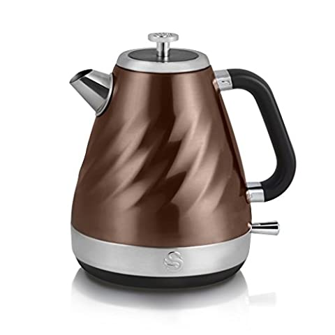 Swan Products SK37010TWN Electric Twist Jug Kettle, 1.6 Litre, 2200 W, Copper
