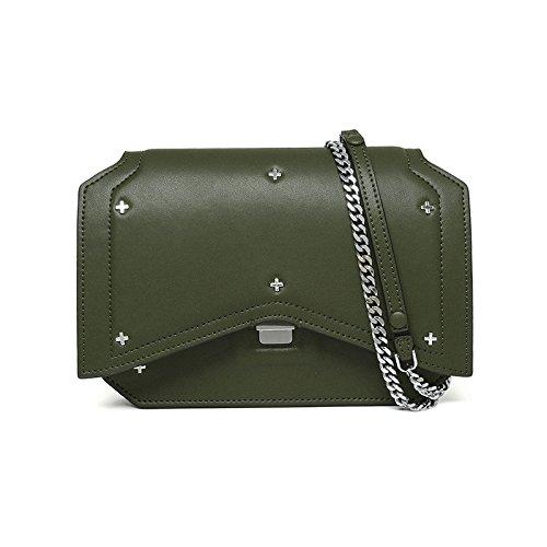 Mefly Schultertasche Aus Leder Handtasche Leder Crossbody-Tasche Green