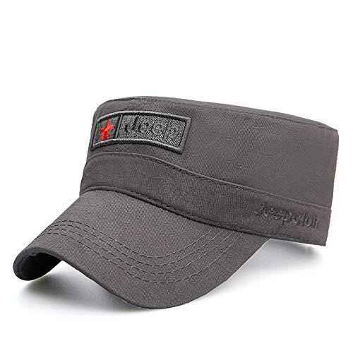 zlhcich Camouflage Military Cap Mode Flat Top Hat Flut Sport Frühling und Herbst Entenzunge männlich und weiblich Visier grau Code