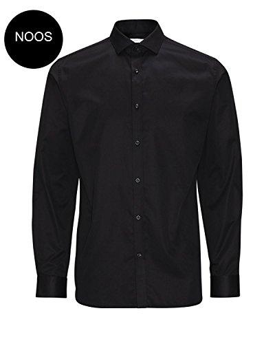 JACK & JONES PREMIUM Herren Hemd mit Manschetten Slim Fit 12020857 Andrew Shirt L/S Tight Fit (L / 52, Schwarz (Black)) (Shirt Tight Fit L/s)