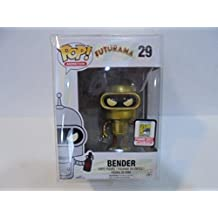 2015 San Diego Comic-Con Exclusive Funko Pop FUTURAMA Gold Bender Limited Edition by Pop