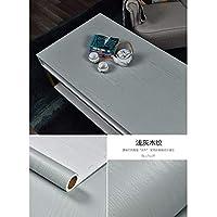 AdorabPaper Waterproof PVC Wood Grain Sticker Self Adhesive Wallpaper Wallpaper Gray 60cm X 200cm (23.6in X 78.7in) Contact Paper