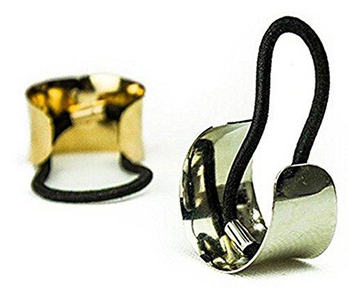 Damen Haarband, Ishua Haargummis Metall Haarklammer Schmuck Band (Gold)