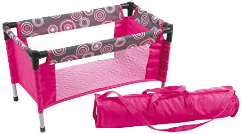 Bayer Chic 2000 652 87 - Puppen-Reisebett, hot pink pearls
