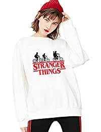 Sudadera Stranger Things TV Mejor Amiga Algodón Pullover Best Friend Cuello Redondo Hoodie Manga Larga Retro