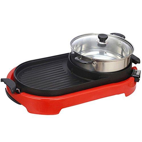 Pot Electric Thai BBQ Grill Und Hot Einstellbare Temperature 220V Tabletop Grill Und Fondue Mit Keramik-Beschichtung