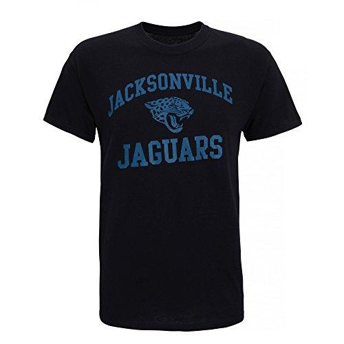 American Sports Merch Herren T-Shirt mit Jacksonville Jaguars Logo, kurzärmlig Weiß
