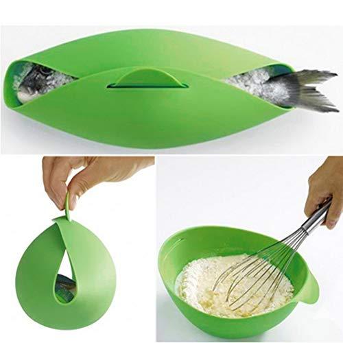 XIYAO Fisch-Wilderer-Gemüsedampfer-Brot-Bäcker-Omelett-Hersteller-Bratschüssel-Silikon-Mikrowellen-Kochgerät - Und Gemüse Nudeln Dampfer