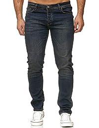 Reslad Jeans Herren Slim Fit Basic Herren-Hose Jeanshose Männer Jeans Hosen  Stretch Denim RS 5b1a136f16